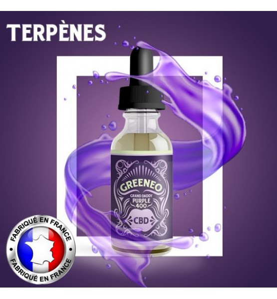 Greeneo E-liquide CBD Grand Daddy Purple - 10ml