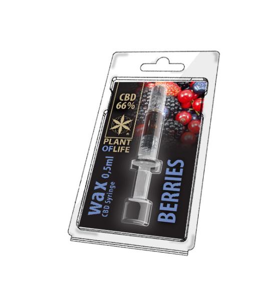 Wax CBD Berries 66% 0.5ML Plant of Life
