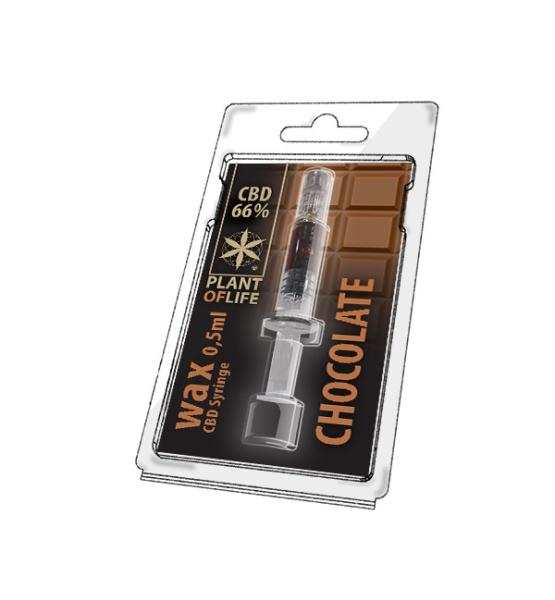 Wax CBD Chocolate 66% 0,5ML Plant of Life