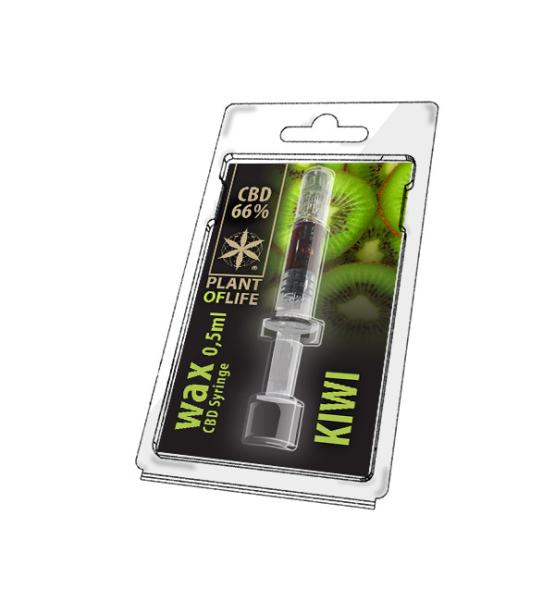 Wax CBD Kiwi 66% 0.5ML Plant of Life