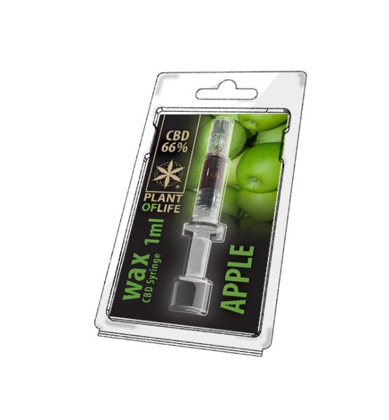 CBD Wax Apple 66% 1ML Plant of Life