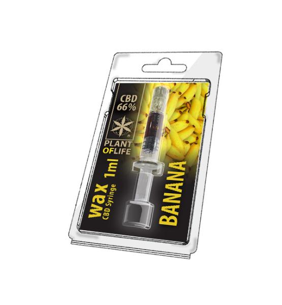 CBD Wax Banane 66% 1ML Plant of Life