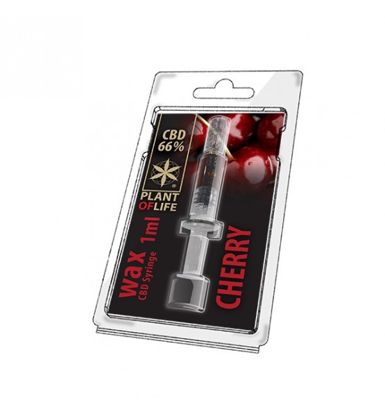 CBD Wax Cherry 66% 1ML Plant of Life