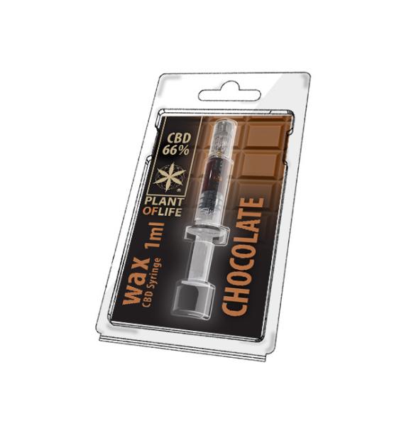 CBD Wax Chocolate 66% 1ML Plant of Life