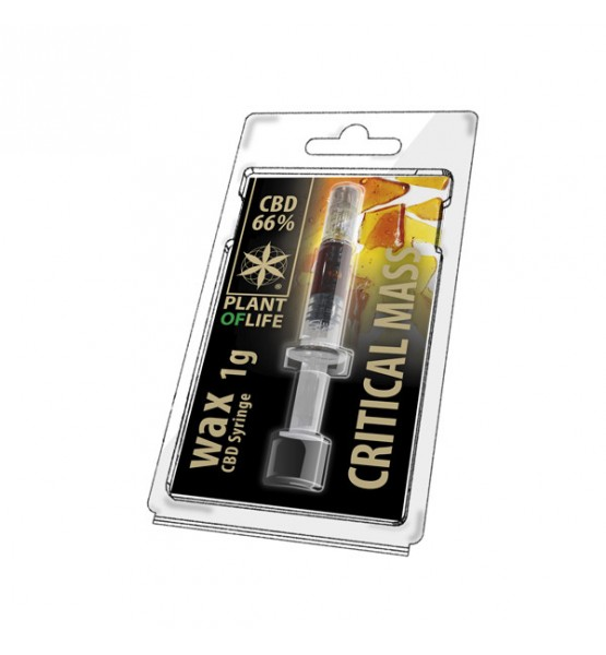 CBD Wax Critical Mass 66% 1ML Plant of Life
