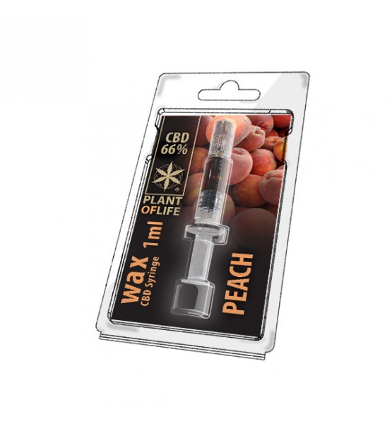 CBD Wax CBD Peach 66% 1ML Plant of Life
